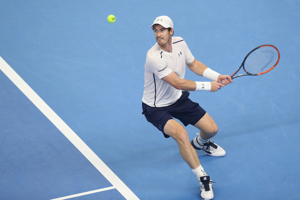 Murray in his round two match (Photo by Emmanuel Wong/Getty Images)