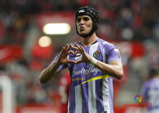 Luismi empató para el Valladolid en la recta final // Imagen: LaLiga 123