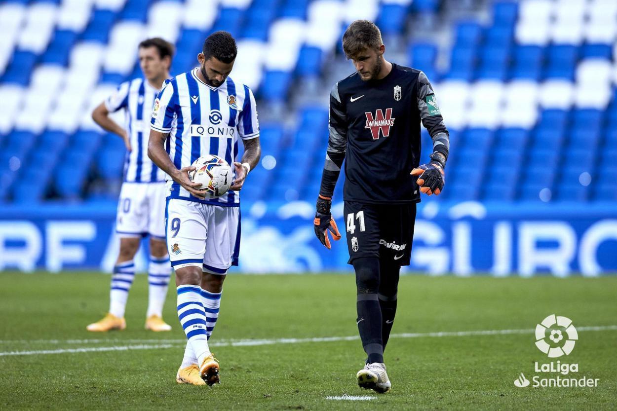 Ángel Jiménez fue el héroe de un Granada CF que cayó con dignidad. Foto: La Liga.