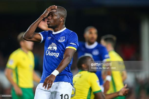 Enner Valencia replaced the injured Romelu Lukaku and didn't have much luck in front of goal. | Photo: Robbie Jay Barratt/ Getty Images