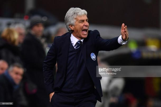 Gian Piero Gasperini en el partido frente al Genoa / Foto: gettyimages