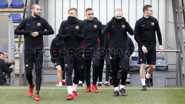 Entreno del Barça | Foto: https://www.fcbarcelona.es