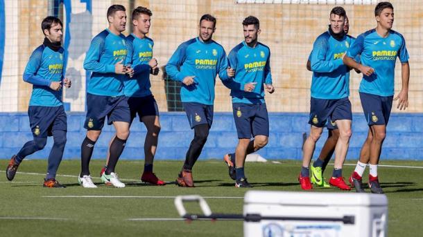 Entreno del Villarreal previo al partido | Foto: https://www.villarrealcf.es