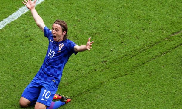 Luka Modric scored the only goal against Turkey | Photo: AFP