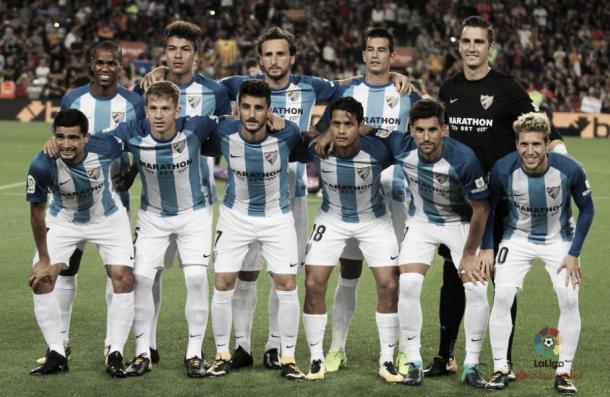Formación del Málaga para un partido | Fotografía: La Liga
