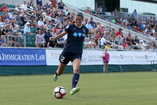 Ashley Hatch will be key if the Courage want all three points | Source: Equalizer Soccer