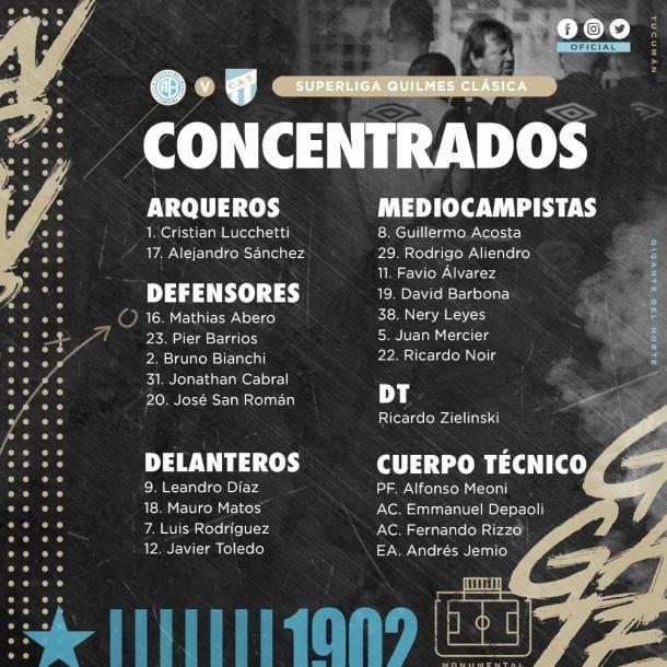 Foto: Pagina oficial de Atlético Tucumán