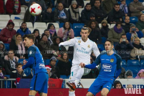 Galês deu uma linda assistência de trivela no primeiro gol de Borja Mayoral