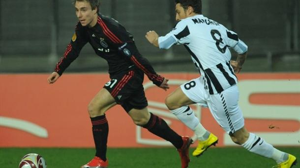 Eriksen playing for Ajax against Juventus in the Champions League (photo: Getty)