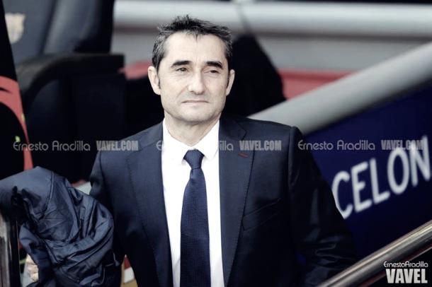 Ernesto Valverde en el último partido de liga en el Camp Nou/ Ernesto Aradilla (VAVEL)