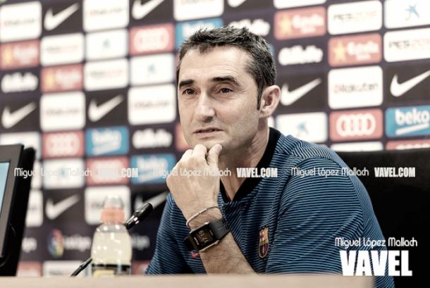 Ernesto Valverde, en rueda de prensa FOTO: Miguel López Mallach