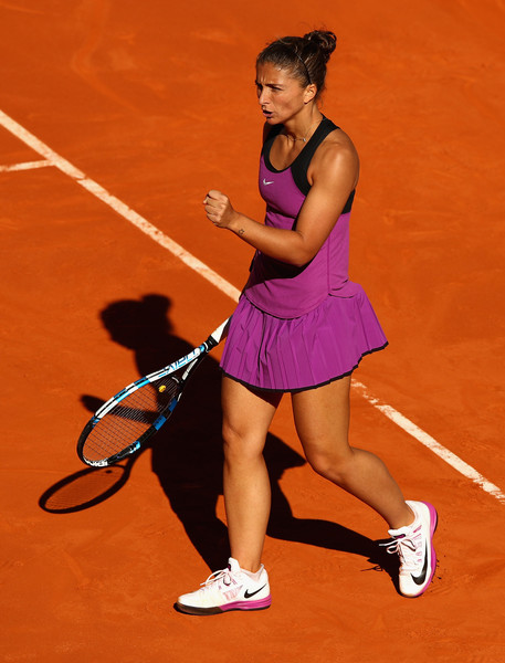 Sara Errani in action at the Mutua Madrid Open last month (Photo by Clive Brunskill / Source : Getty Images)