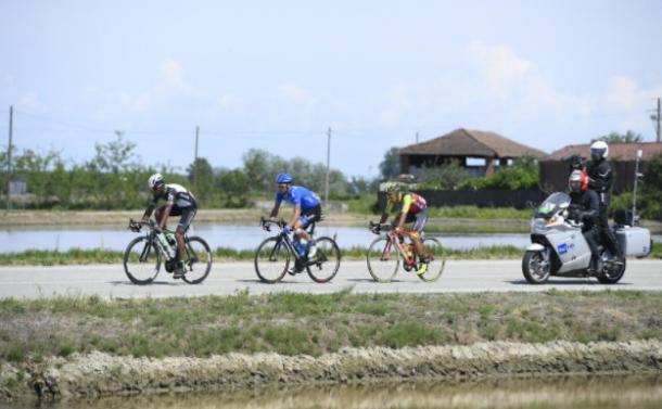 Berhane, Lagutin y Martínez, en fuga | Foto: Giro de Italia