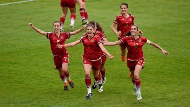 Spain celebrate. | Image source: Sportsfile- UEFA