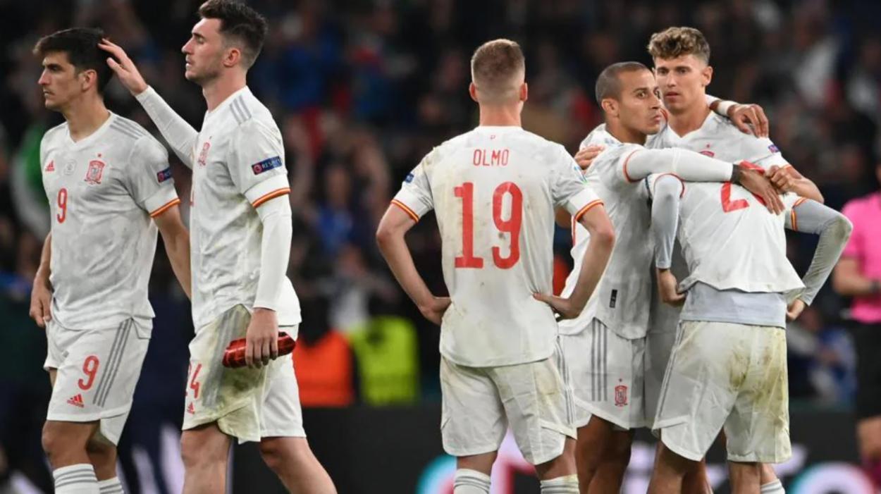 España tras caer en penaltis / FOTO: UEFA