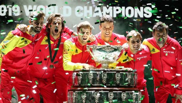España, actual campeón del mundo. Imagen: @DavisCup.