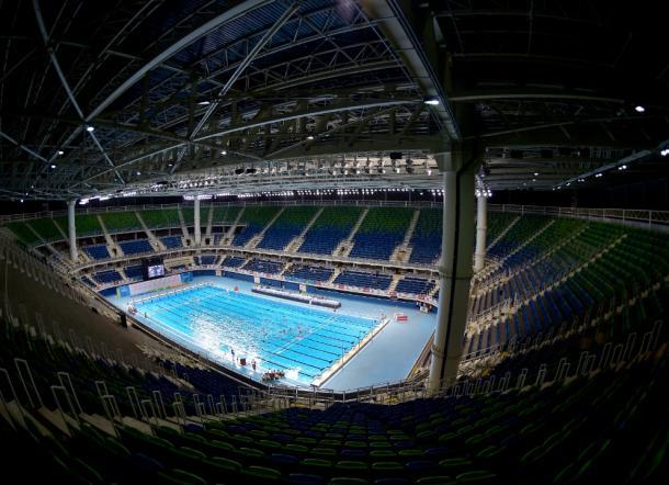 Estádio Aquático Olímpico, palco das competições da natação (Foto: Rio 2016)
