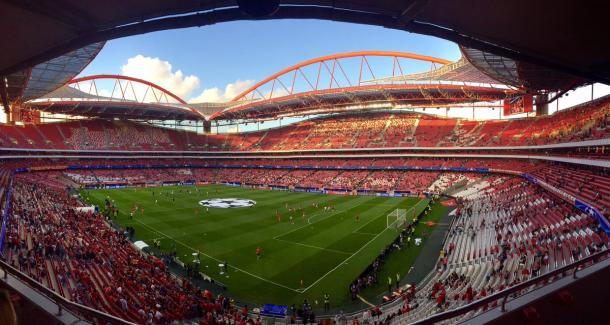 Estadio da Luz. Foto: @SLBenfica