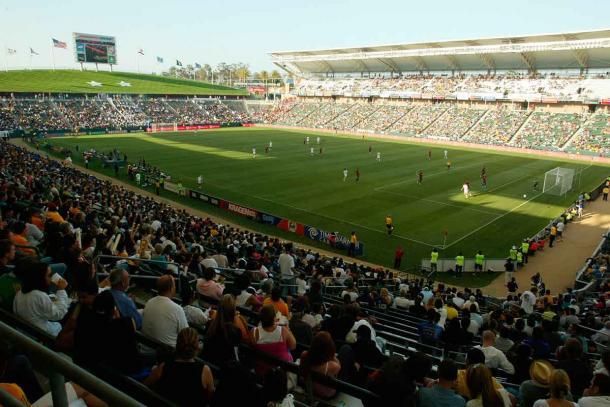 El estadio del LA Galaxy acogiendo un partido de los USMNT (sportyou.com)