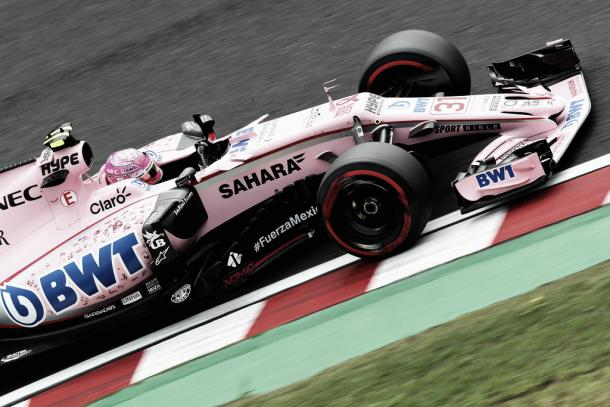 Sergio Pérez, durante el GP de Japón, foto: Twitter Force India - @ForceIndiaF1