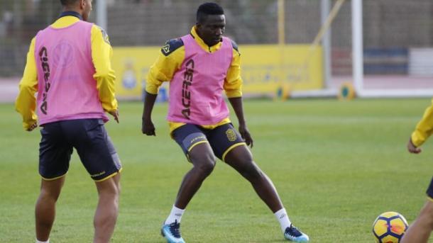 Primer entrenamiento de Etebo con Las Palmas | Foto: udlaspalmas.es