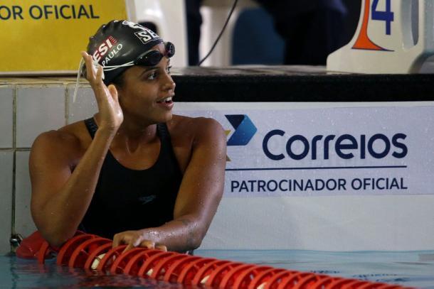 Etiene Medeiros em prova nacional (Foto: Divulgação/CBDA)