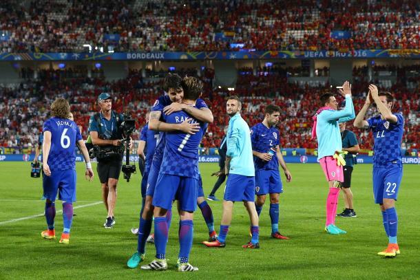 A Croácia celebrou a passagem aos oitavos de final