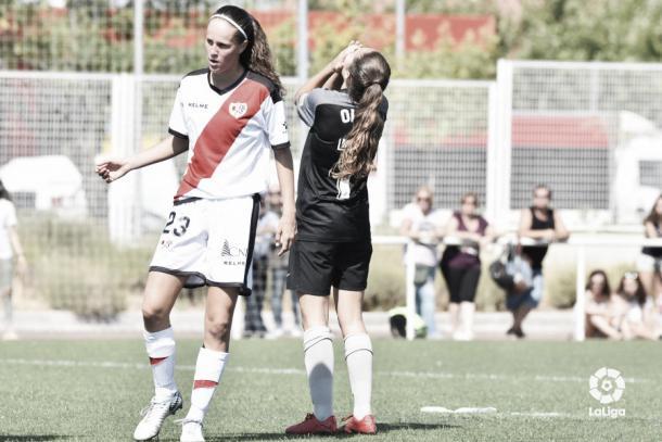 Eva Alonso durante un partido | Fotografía: La Liga