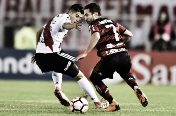 Everton Ribeiro vem se destacando entre titulares do Flamengo. Foto:Staff Images/Flamengo