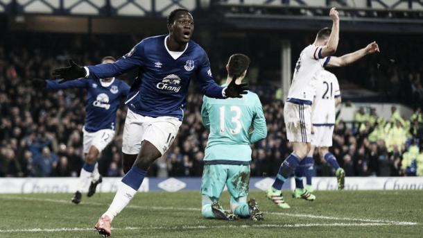 Romelu Lukaku celebrates his opening goal. | Photo: Sky Sports