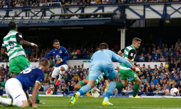 Aaron Lennon scored his first goal since March. | Photo: Getty Images