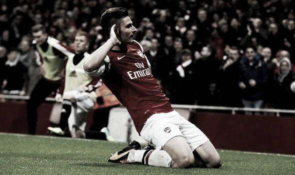 Giroud has scored 82 goals in total during his time in North London. Photo: Express.co.uk