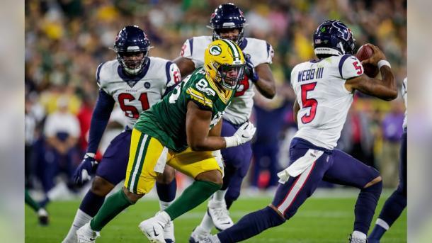 Joe Webb jugó un buen partido (foto: www.packers.com)