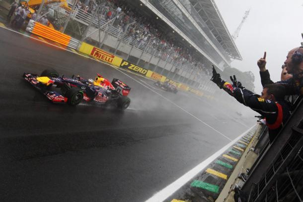 Vettel em 2012, ano de seu tricampeonato (Foto: Reprodução/F1)