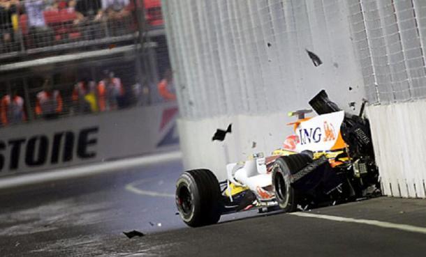 L'incidente di Piquet nel 2008. Fonte foto: formulapassion.it