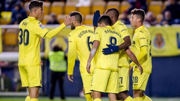 Los jugadores del Villarreal celebrando un gol ante la Ponferradina | Villarreal CF