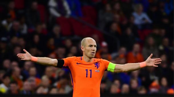 Robben desquiciado durante el encuentro. Fuente: FC Bayern