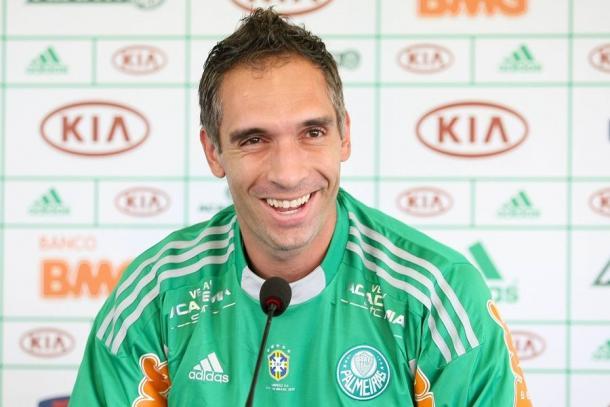 Apresentação de Prass no Palmeiras  (Foto: Cesar Greco / Fotoarena)