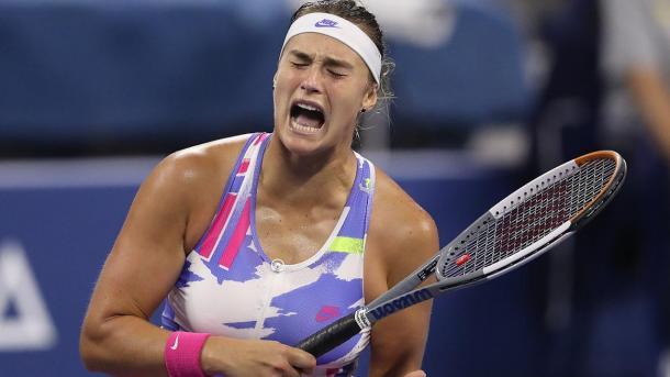 Sabalenka was undone by 27 unforced errors in her second-round loss/Photo: Robert Deutsch/USA Today Sports
