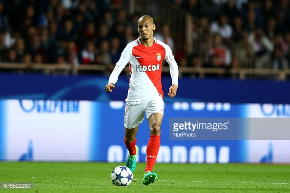 Fabinho of Monaco during the UEFA Champions League Semi Final first leg match between AS Monaco v Juventus at Stade Louis II on May 3, 2017 in Monaco, Monaco. (Photo by Matteo Ciambelli/NurPhoto via Getty Images)