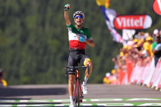 Fabio Aru celebra su victoria en el Tour de Francia | Fotografía: Tour de Francia