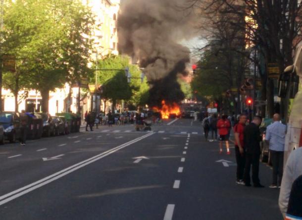 Boicot sufrido recientemente durante un mitin de VOX. Foto: Cuenta oficial de Facebook de VOX España (@vox.espana).