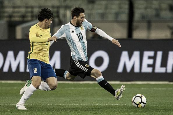 Fagner foi titular em partida contra Argentina, em novembro de 2017. Foto: Icon Sportswire/Getty Images