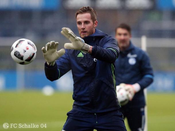 Fährmann en un entrenamiento. Foto: schalke.de