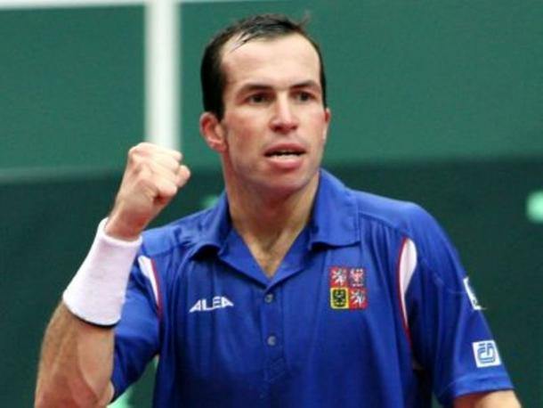 Radek Stepanek in Davis Cup action (Source: fanpop.com)