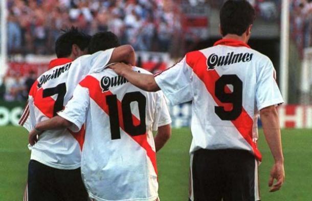 Saviola, Aimar, Ángel: pura clase (Foto: Pinterest).