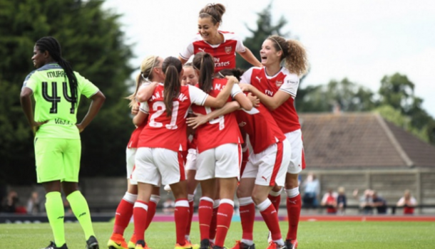 Fara Williams' deflected effort found the net early on | Photo: Arsenal
