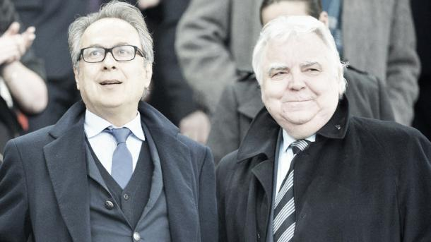 So far, so good for Farhad Moshiri (L). | Photo: Sky Sports