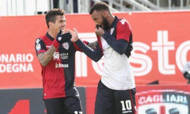 Joao Pedro esulta dopo il rigore segnato al Pescara. Fonte foto: calciomercato.com