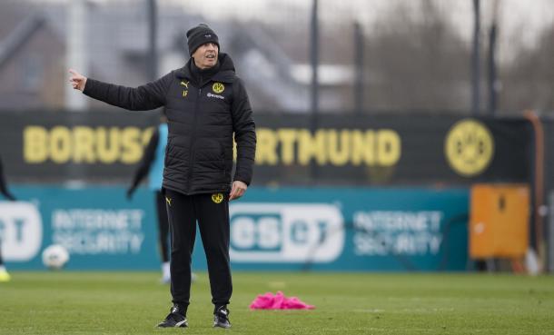 Favre no treino do BVB (Foto: Reprodução / BVB)